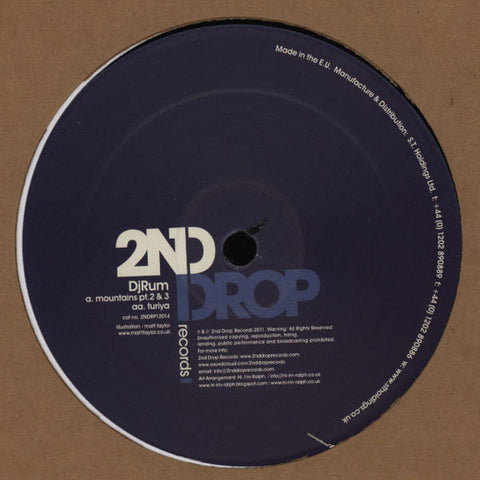 DjRum* ‎– Mountains EP (Part 2) : 2nd Drop Records ‎– 2NDRP12014 : Vinyl, 12""