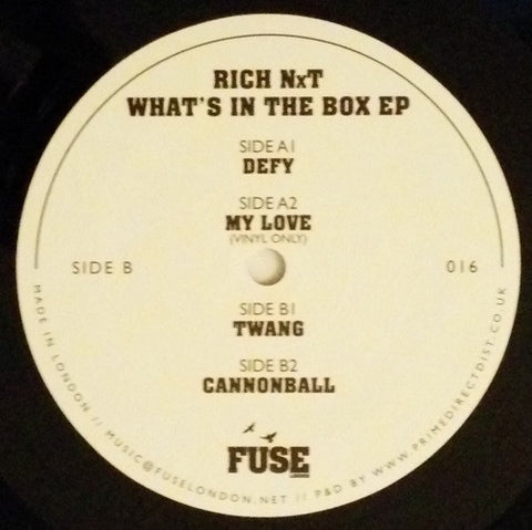 Rich NxT ‎– What's In The Box EP : Fuse London ‎– FUSE16 : Vinyl, 12""