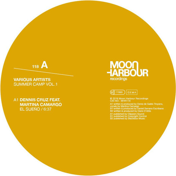 "Dennis Cruz (3), Martina Camargo, Danny Serrano, Dario D'Attis ‎– Summer Camp Vol. 1 : Moon Harbour Recordings ‎– MHR118 : Vinyl, 12"", Compilation"