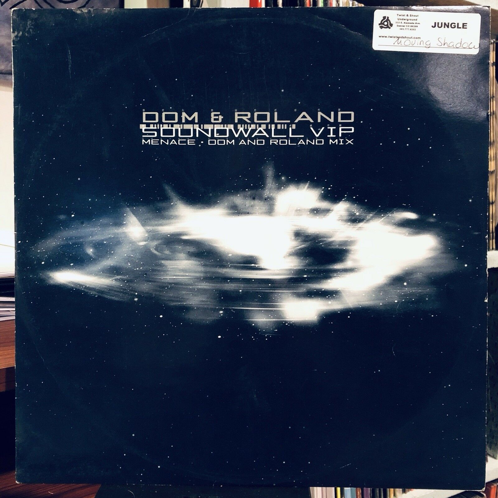 Dom & Roland / Biostacis ‎– Soundwall VIP / Menace (Dom & Roland Mix) : Moving Shadow ‎– SHADOW 156 : Vinyl, 12""