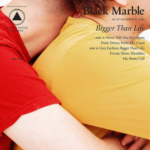 Black Marble ‎– Bigger Than Life : Sacred Bones Records ‎– SBR-234 : Vinyl, LP, Album, Limited Edition, Stereo, Red and white split