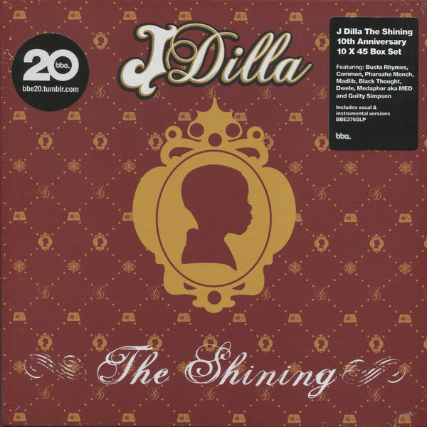 "J Dilla ‎– The Shining (10th Anniversary) : BBE ‎– BBE376SLP : 10 × Vinyl, 7"", 45 RPM, Album  Box Set"