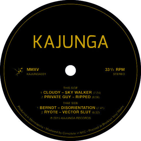 "Various ‎– Kajunga001 : Kajunga Records ‎– KAJUNGA001 : Vinyl, 12"", 33 ⅓ RPM, EP"