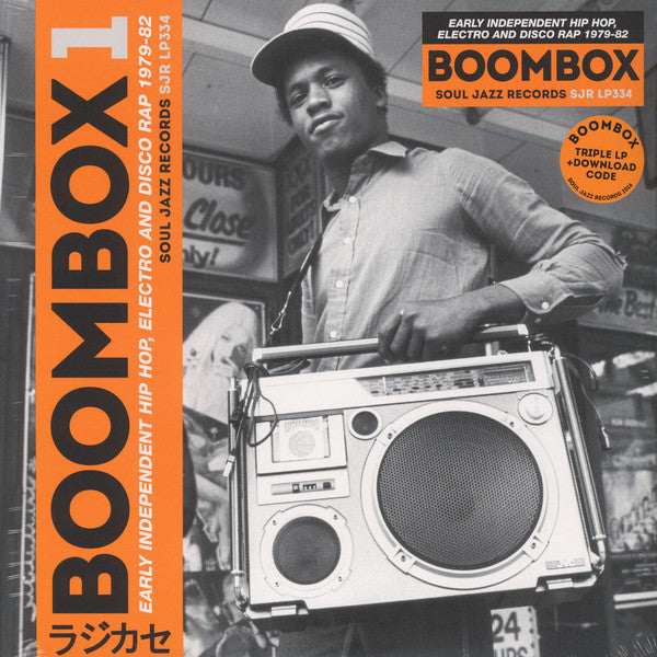 Various ‎– Boombox 1 (Early Independent Hip Hop, Electro And Disco Rap 1979-82) : Soul Jazz Records ‎– SJR LP334 Series: Boombox (4) – 1 : 3 × Vinyl, LP, Compilation