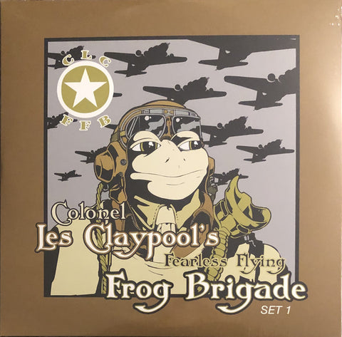 Colonel Les Claypool's Fearless Flying Frog Brigade* ‎– Live Frogs Set 1 & 2 : Prawn Song ‎– PSR-0010 : 3 × Vinyl, LP, Compilation, Repress, Lime Green Splatter