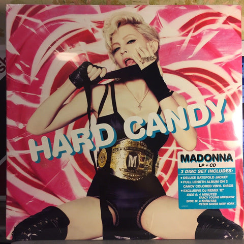 "Madonna ‎– Hard Candy : Warner Bros. Records ‎– 470972-1 : Vinyl, LP, Blue Marble Vinyl, LP, Pink Marble Vinyl, 12"", 45 RPM CD, Album"