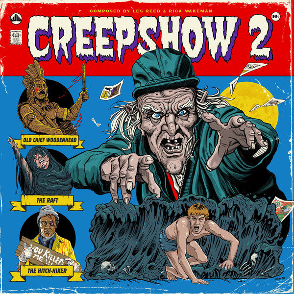 Les Reed And Rick Wakeman ‎– Creepshow 2  : Waxwork Records ‎– WW031 : 2 × Vinyl, LP, 45 RPM, Album, Remastered, Brown & Teal Swirl