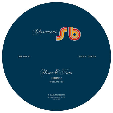 Hear & Now ‎– Hirundo : Claremont 56 ‎– C56058 : Vinyl, 12""