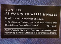 Son Lux ‎– At War With Walls And Mazes : Joyful Noise Recordings ‎– JNR296 : Vinyl, LP, Album, Grey