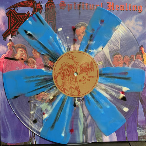 Death (2) ‎– Spiritual Healing : Relapse Records ‎– RR7194 : Vinyl, LP, Album, Reissue, Repress, Clear with Pinwheels