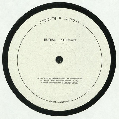 Burial ‎– Pre Dawn / Indoors : Nonplus Records ‎– NONPLUS 043 : Vinyl, 12""
