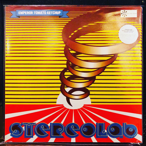 Stereolab ‎– Emperor Tomato Ketchup : Warp ‎– D-UHF-D11R, Duophonic Ultra High Frequency Disks ‎– D-UHF-D11R : 3 × Vinyl, LP, Album, Limited Edition, Numbered, Reissue, Remastered, Clear