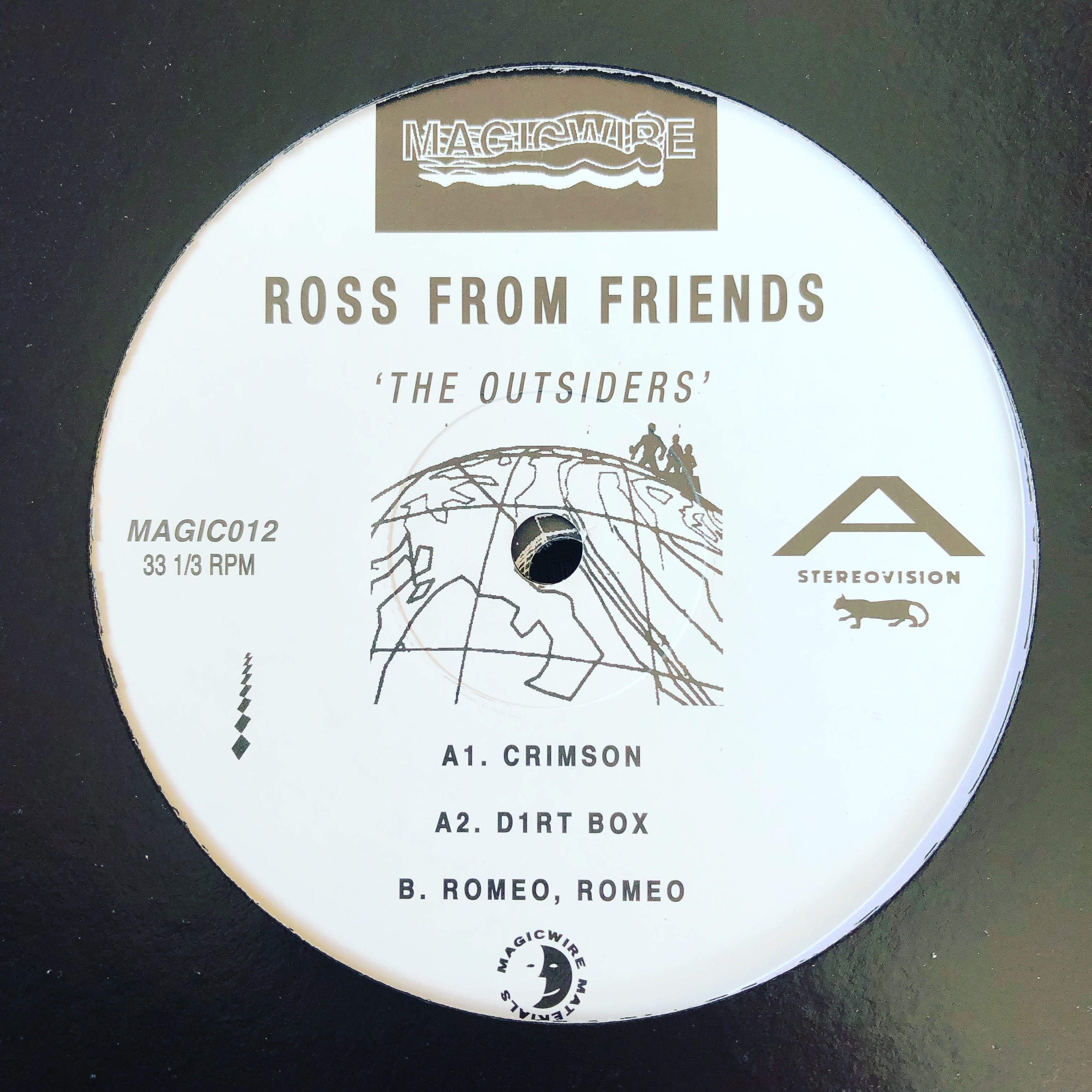 "Ross From Friends ‎– The Outsiders : Magicwire ‎– MAGIC012 : 2 × Vinyl, 12"", 33 ⅓ RPM"