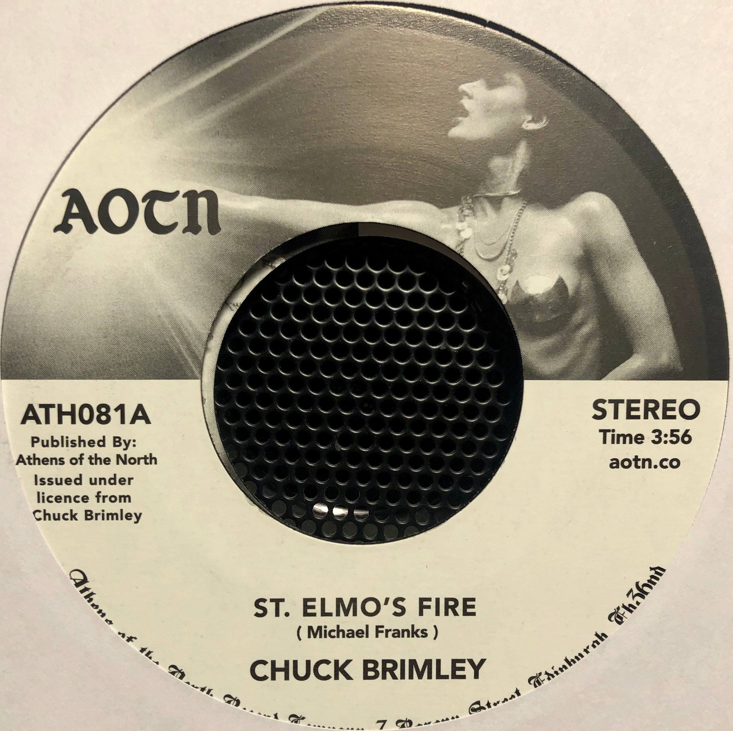 "Chuck Brimley ‎– St. Elmos Fire : Athens Of The North ‎– ATH081 : Vinyl, 7"", Reissue"