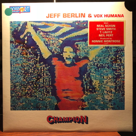 Jeff Berlin & Vox Humana (4) ‎– Champion : Passport Jazz ‎– PJ 88004 : Vinyl, LP, Album, Promo