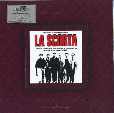 Ennio Morricone ‎– La Scorta (Colonna Sonora Originale) : Epic ‎– MOVATM105 : At The Movies – , Ennio Morricone Classic Soundtrack Series – : Vinyl, LP, Album, Limited Edition, Numbered, Transparent