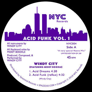 "Windy City Feat Moot Booxle - Acid Funk Vol 1 - NYC 004 - 12"", Vinyl"