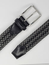 Load image into Gallery viewer, MEN'S TWO TONE LEATHER STRETCH BLACK & GREY