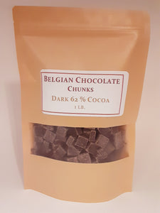 10 oz. Imported Belgian Chocolate Chips DARK 62% Premium No preservative, flavors or artificial colors