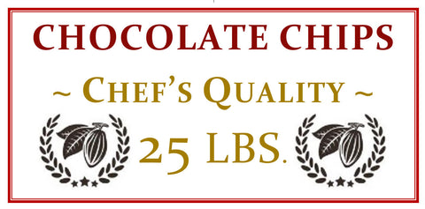 25 lbs. Chef's Quality Chocolate Chips