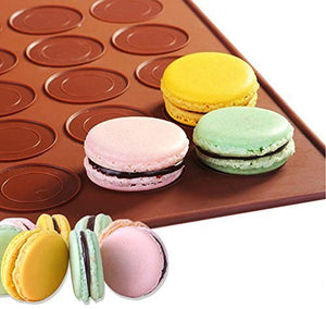 Macaron Silicone Mat Baking Mold Almond muffin chocolate chip cookies 48 Capacity