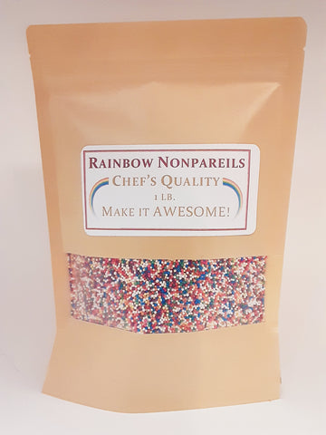 8oz. Rainbow Nonpareils pearls