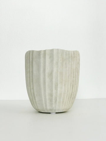 Medium Textured Ceramic Planter w/ Rustic Design