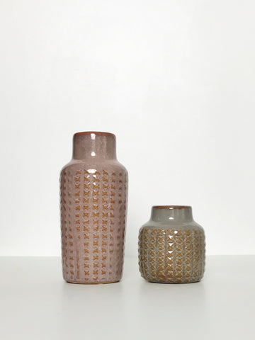 Glazed Ceramic Vases - Set of 2