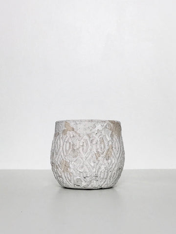 Textured Ceramic Planter w/ Antique Design