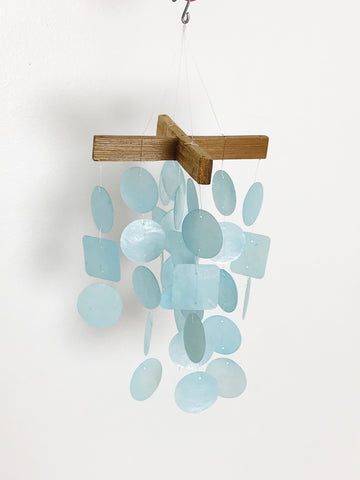 Small Blue Shell Wind Chime