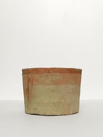 Medium Textured Terracotta Planter w/ Weathered Design