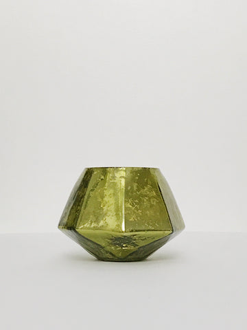 Green Mercury Glass Votive