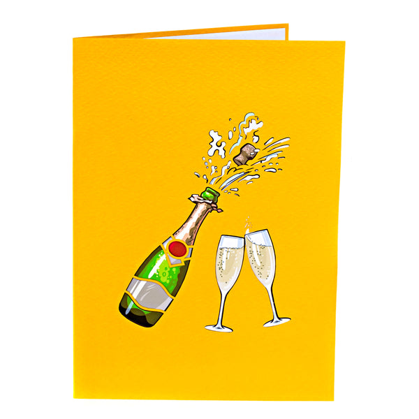 Congrats Pop Up Card Pop the Champagne