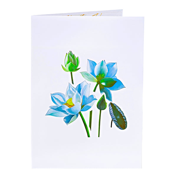 Mother's Day Pop Up Card Blue Lotus