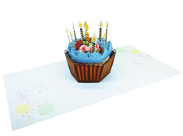 Birthday Pop Up Card Cupcake Anthea Cards