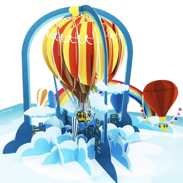 Birthday Pop Up Card Hot Air Balloon Anthea Cards