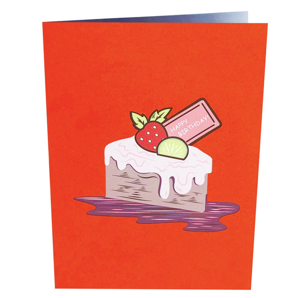 Birthday Pop Up Card Strawberry Cake Anthea Cards