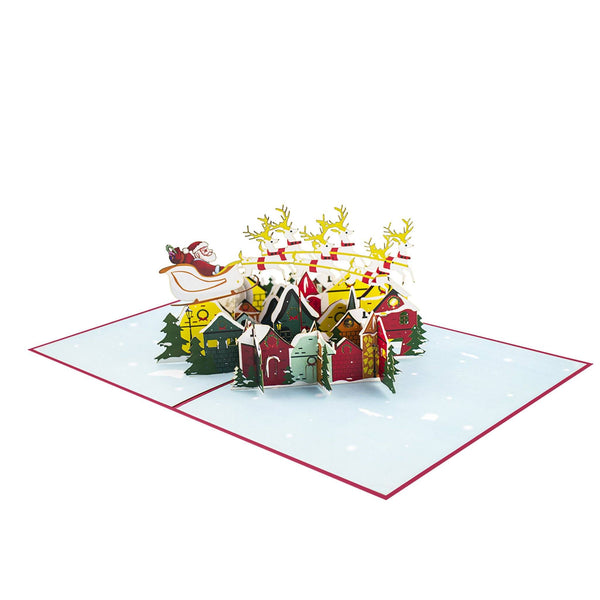 Pop Up Christmas Card City Night Before Xmas Pop Up Christmas Cards Anthea Cards
