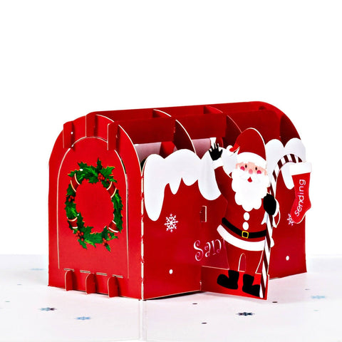 Pop Up Christmas Card Letter from Santa Claus Pop Up Christmas Cards Anthea Cards
