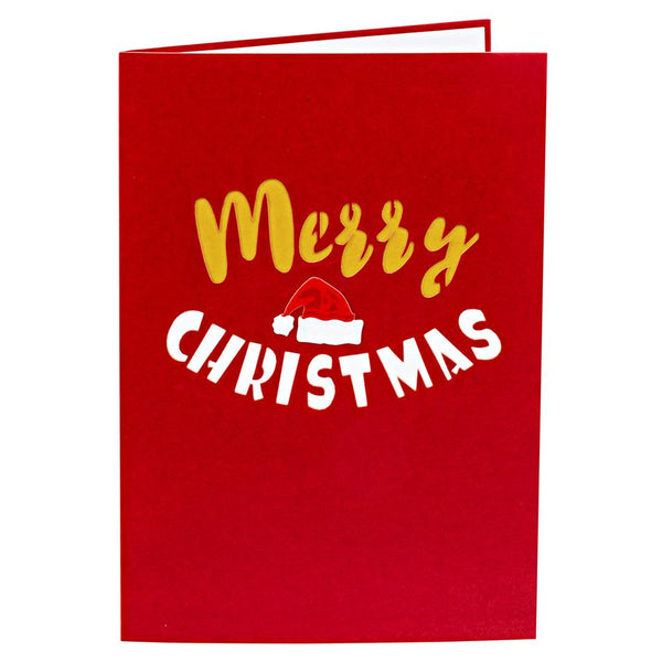 Pop Up Christmas Card Merry Christmas Text Pop Up Christmas Cards Anthea Cards
