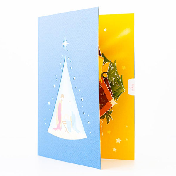 Pop Up Christmas Card - Nativity Scene Pop Up Christmas Cards Anthea Cards