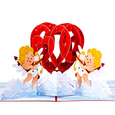 Valentine's Day Pop Up Cards Cupids Heart Anthea Cards
