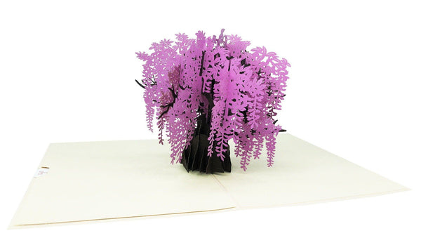 Wisteria Tree Pop Up Card Anthea Cards