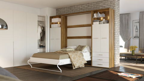 Beautiful two tone murphy bed by Maxima House!