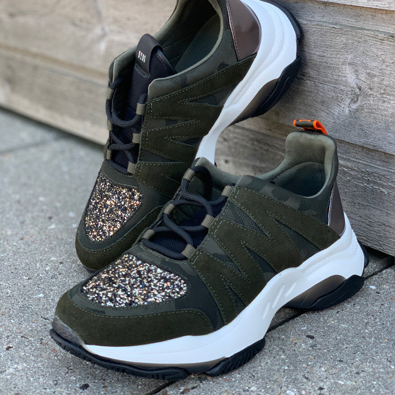 STEVE MADDEN MAXIMUS SNEAKERS  ARMY