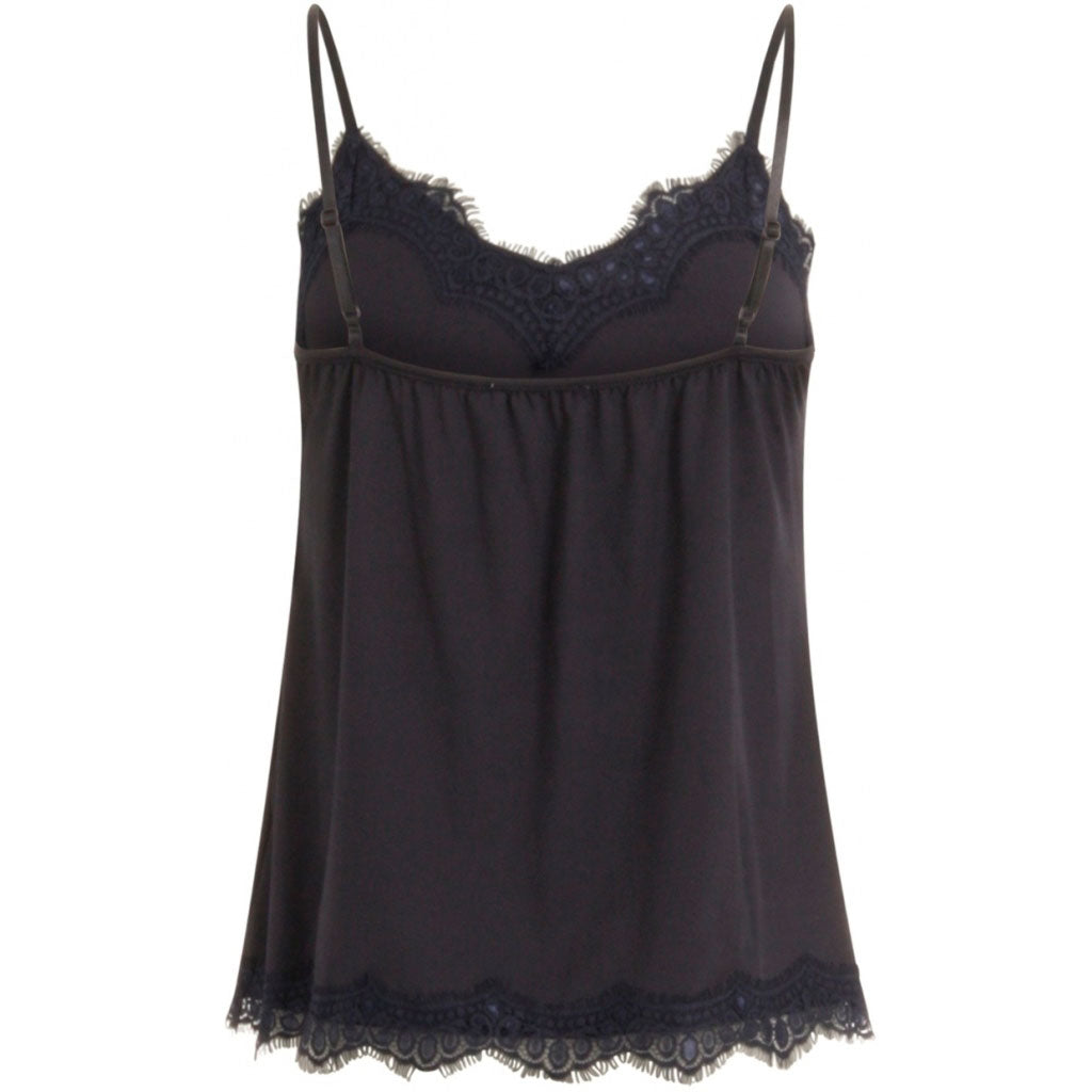 COSTER COPENHAGEN STRAP LACE TOP NAVY