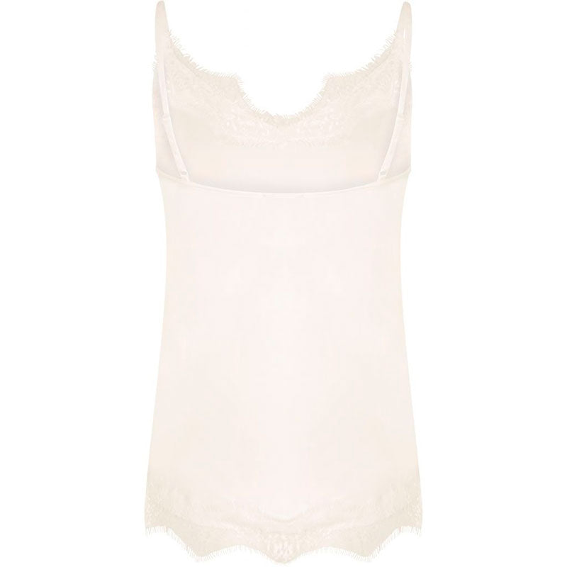 COSTER COPENHAGEN STRAP LACE TOP OFF WHITE