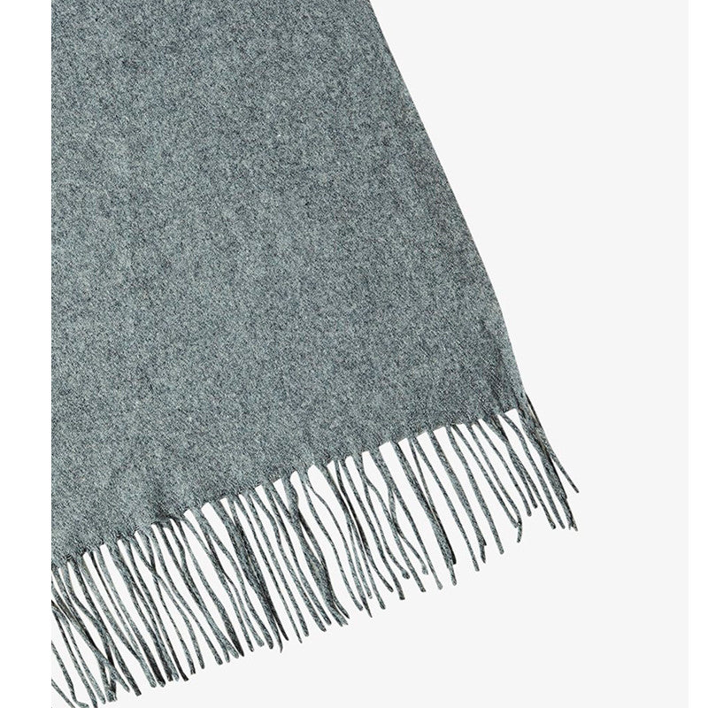 PIECES PCJIRA WOOL SCARF GRÅ