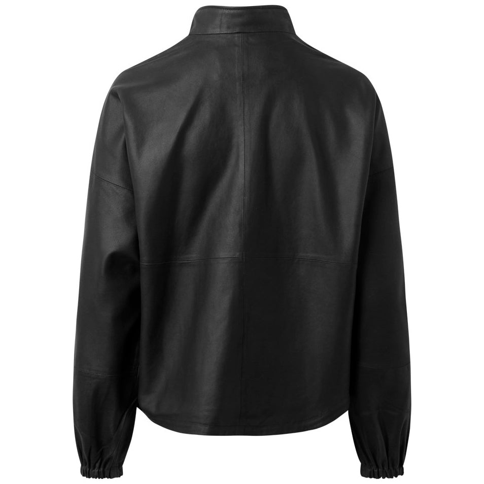DEPECHE 50242 LEATHER JACKET SORT