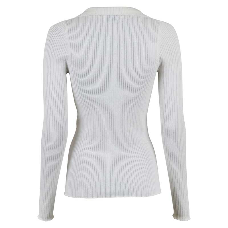 NEO NOIR MILY SOFT KNIT BLOUSE OFF WHITE